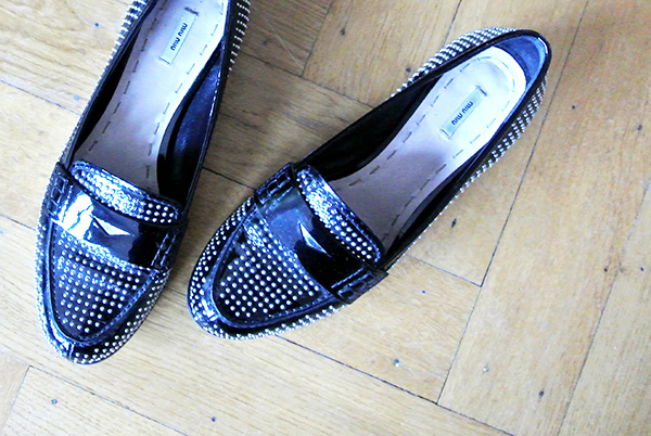 Miu Miu studded loafers