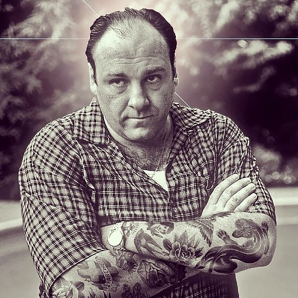 Inked Icons // tony soprano with tattoos - James Gandolfini