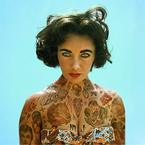 Inked Icons// Liz Taylor tattoos