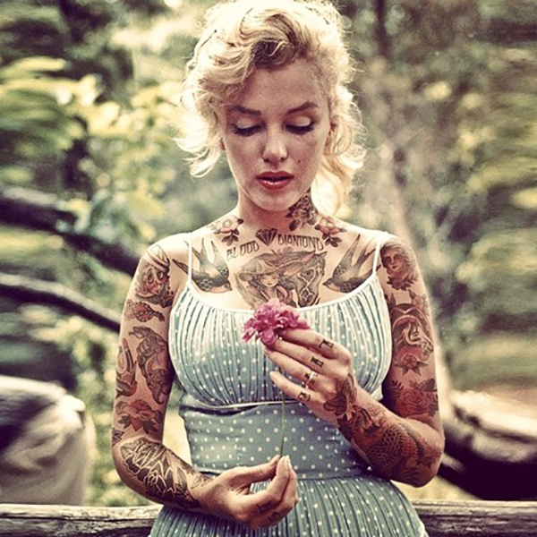 Inked Icons // Marilyn Monroe tattoos