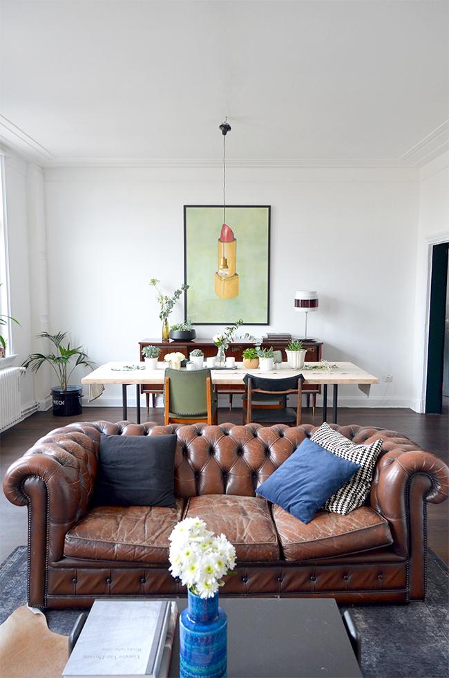 Home renovation: Living Room update via noglitternoglory.com