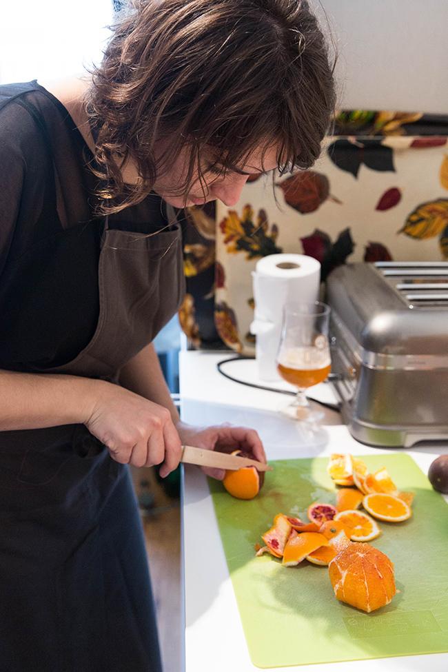 Dairy free Blood Orange and Meringue dessert