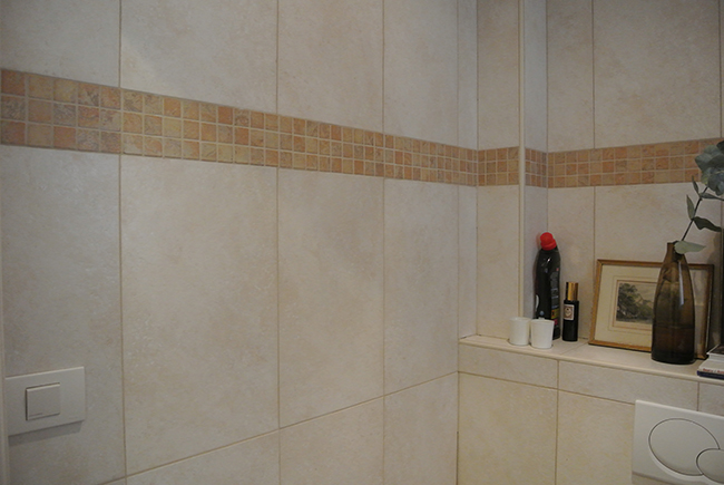 Home Renovation // Black Lavatory // Painted Tiles - Before & After