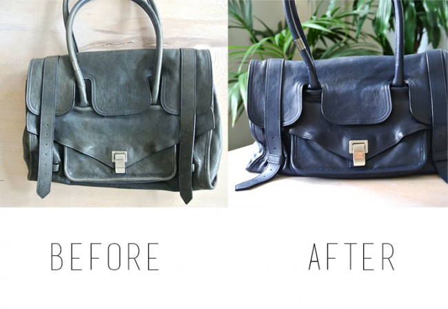 DIY: How to paint your designer bag // Repainting leather Proenza Schouler PS1