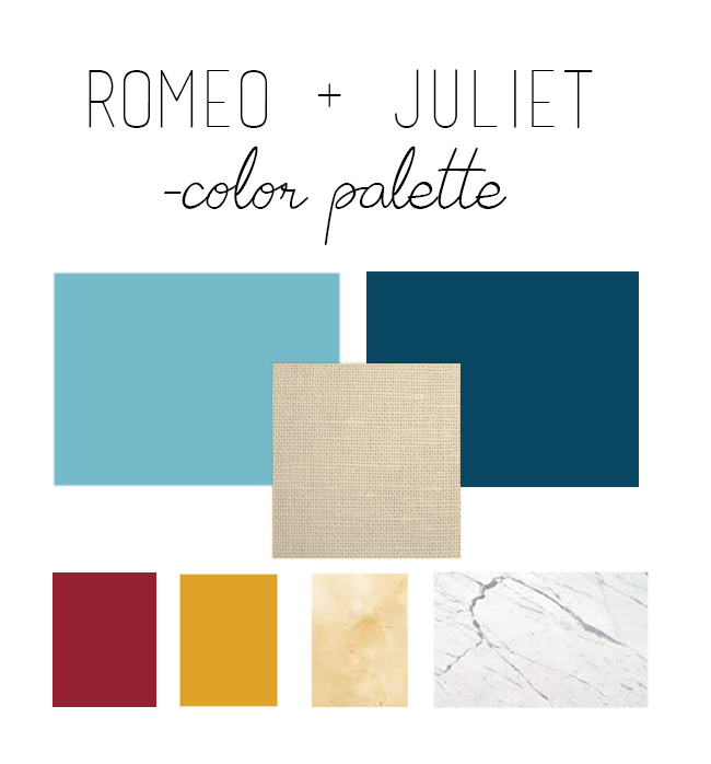 Get the look: Romeo + Juliet // Interior inspiration from Baz Luhrmann's 1996 masterpiece - Color palette