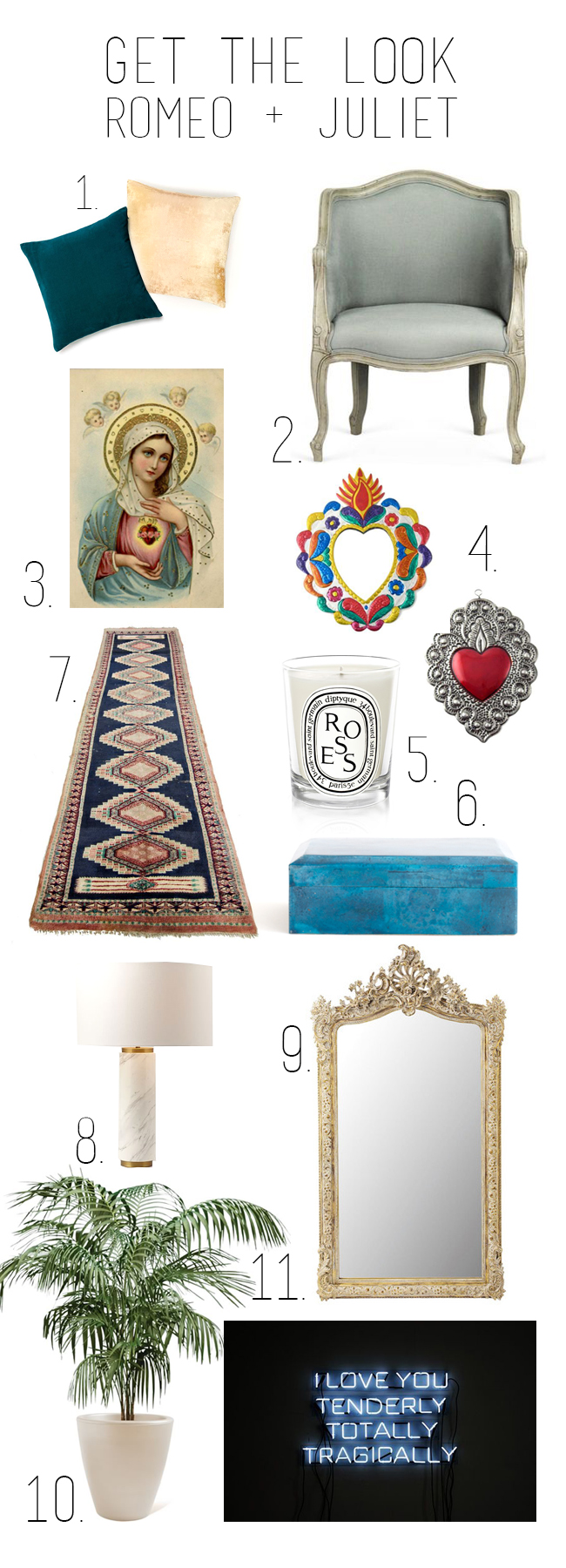 Get the look: Romeo + Juliet // Interior inspiration from Baz Luhrmann's 1996 masterpiece - Get the look