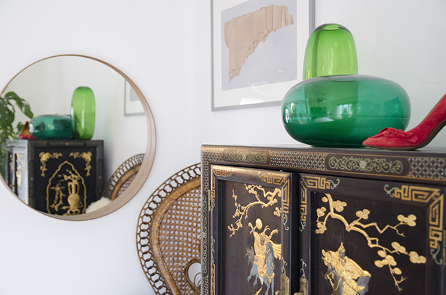 Nathalie and Michiel's Arty & Eclectic Apartment // Chinese credenza