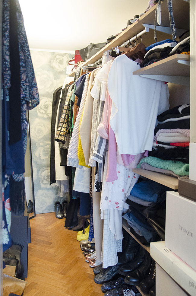 Nathalie and Michiel's Arty & Eclectic Apartment // Walk in closet
