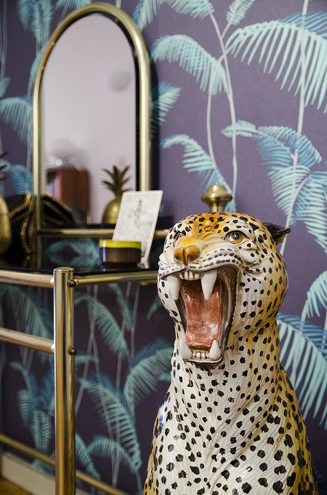 Nathalie and Michiel's Arty & Eclectic Apartment // Panther statue