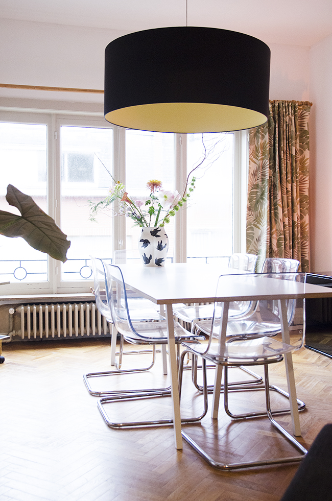 Nathalie and Michiel's Arty & Eclectic Apartment // Dining room with Vaso de Culo