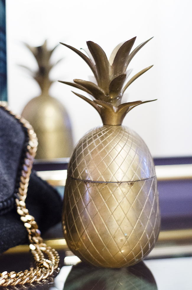 Nathalie and Michiel's Arty & Eclectic Apartment // Brass pineapple
