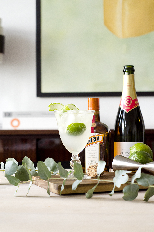 Elderflower Cointreau Fizz Royale Cocktail Recipe // No Glitter No Glory
