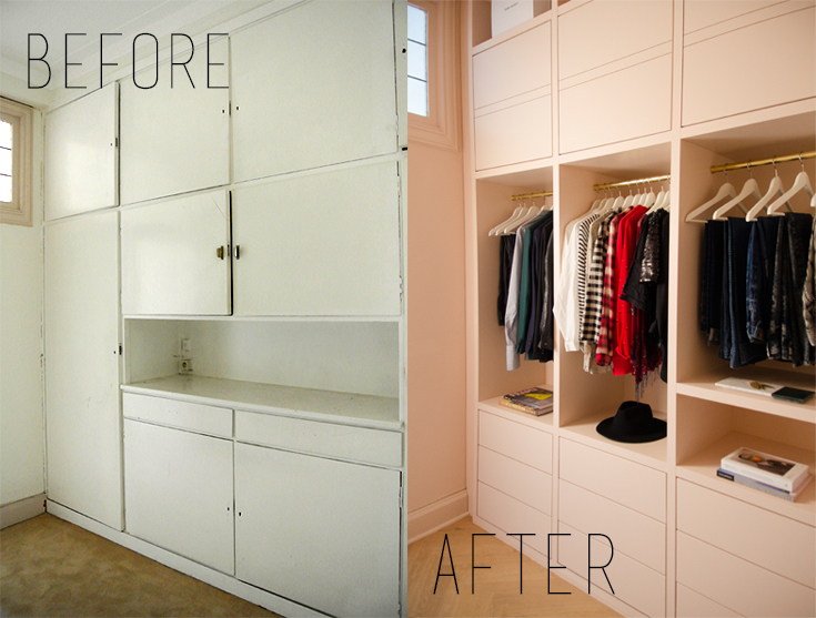 Home Renovation: Pink Closet Reveal // noglitternoglory.com