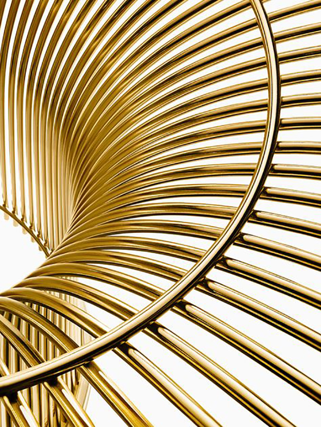 Platner Arm Chair Inspiration // gold