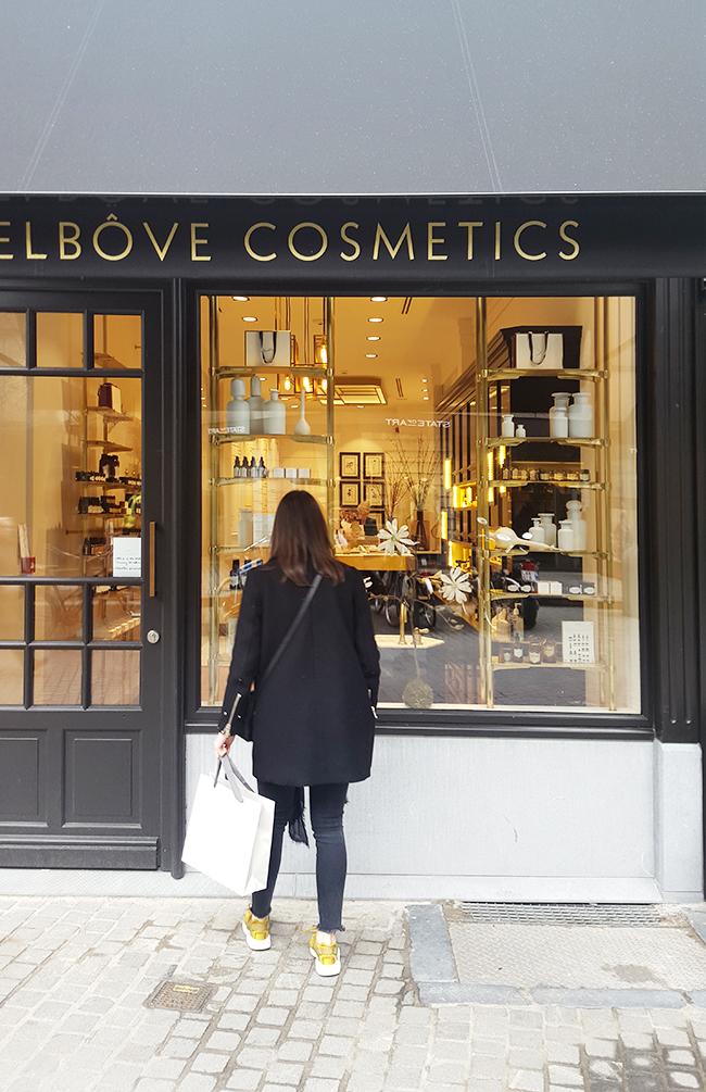Delbôve Cosmetics Interior and Branding by Christophe Remy - via noglitternoglory.com