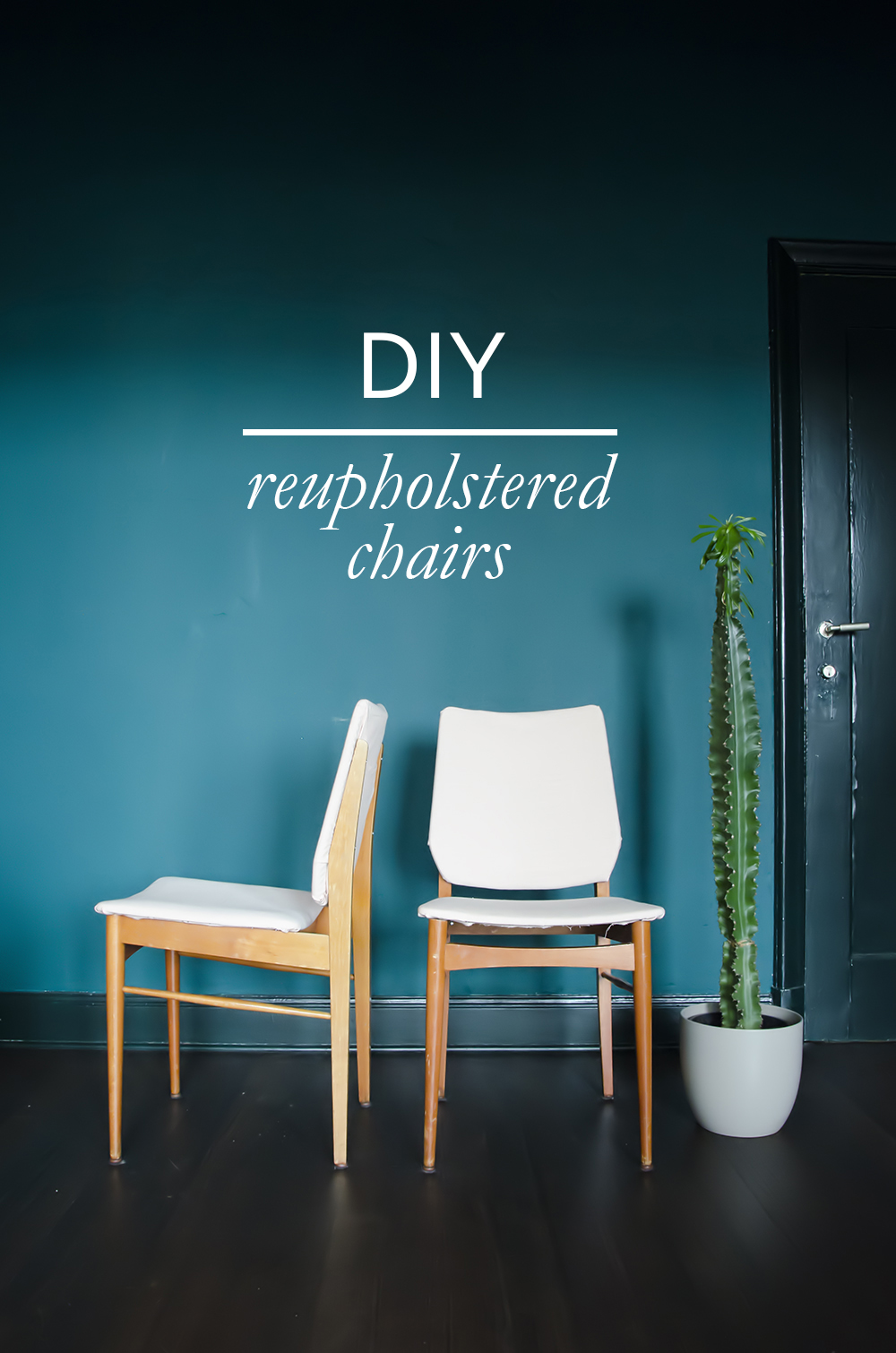 DIY Easy reupholstered chairs