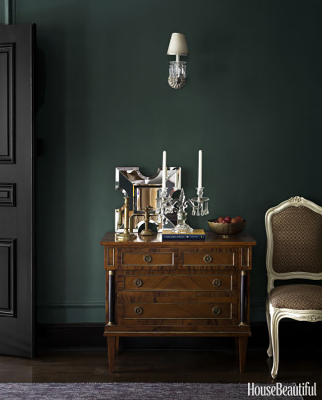 Wall Colour Inspiration: Dark Green Wall Inspiration