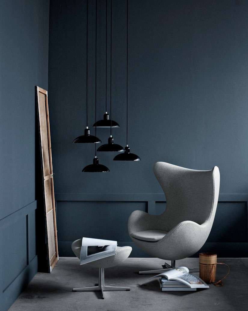 Designer profile Arne Jacobsen // Grey Swan and Egg chair- via noglitternoglory