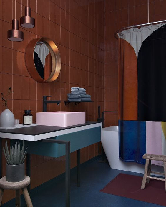 Designer profile Arne Jacobsen // VOLA faucet black/ bronze - via noglitternoglory