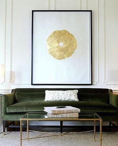 Velvet Sofa Inspiration - A rainbow of velvet sofas via noglitternoglory.com